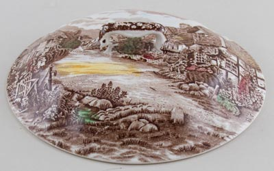 Johnson Bros Olde English Countryside brown with colour Vegetable Dish Cover