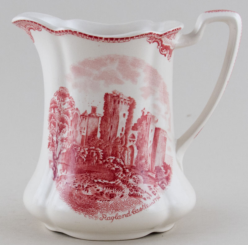 Johnson Bros Old Britain Castles pink Jug or Pitcher c1950s