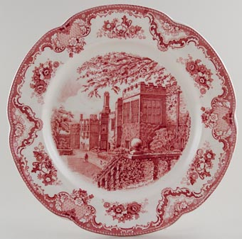 Johnson Bros Old Britain Castles pink Charger c1950s