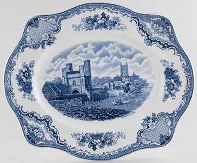 Johnson Bros Old Britain Castles Meat Dish or Platter Canterbury c1930