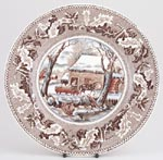 Plate Thanksgiving Frozen Up c1950s