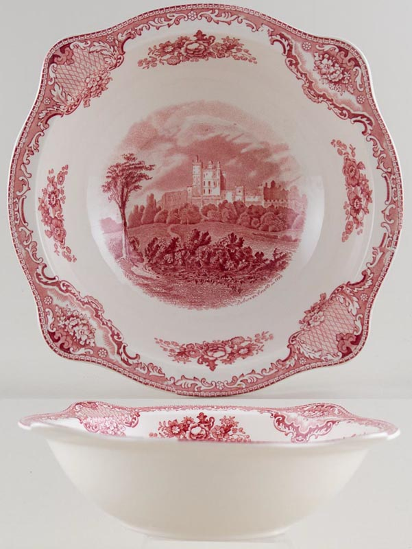 Johnson Bros Old Britain Castles pink Bowl c1950s
