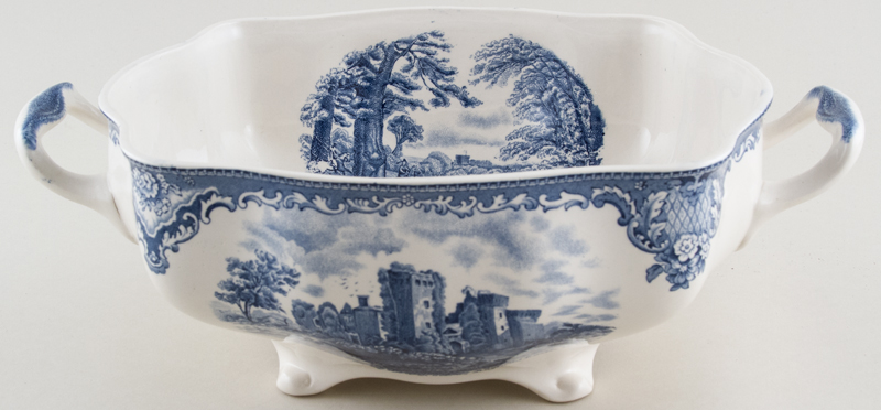 Johnson Bros Old Britain Castles Soup Tureen base only Ragland Castle c1950s