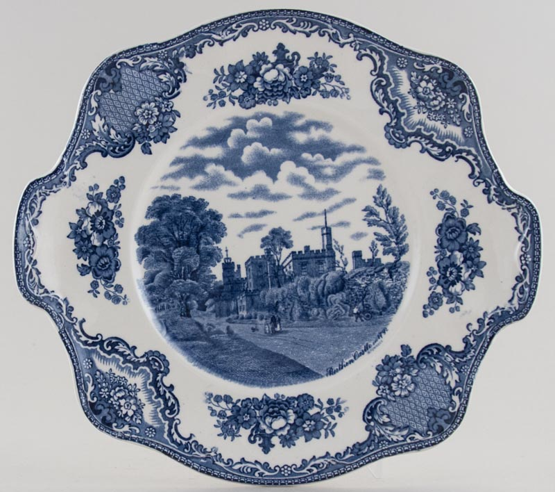 Johnson Bros Old Britain Castles Bread and Butter Plate Ruthin Castle c1950s