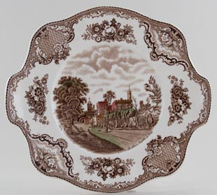 Johnson Bros Old Britain Castles brown with colour Bread and Butter Plate Ruthin Castle