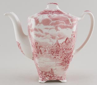Johnson Bros Olde English Countryside pink Coffee Pot c1970s
