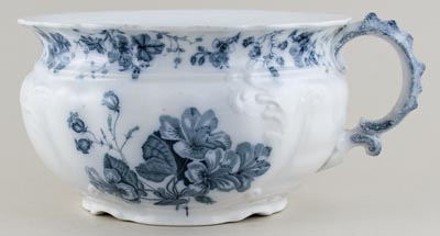 Johnson Bros Manhattan grey Chamber Pot c1900