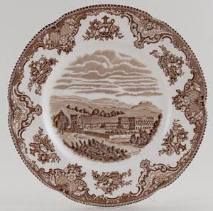 Johnson Bros Old Britain Castles brown Plate Chatsworth