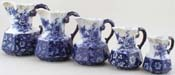 Jugs or Pitchers set of 5 c1900