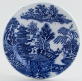 Maling Two Temples Plate miniature c1929