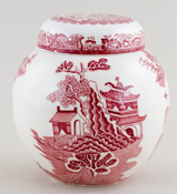 Masons Turner Willow pink Ginger Jar c1960s