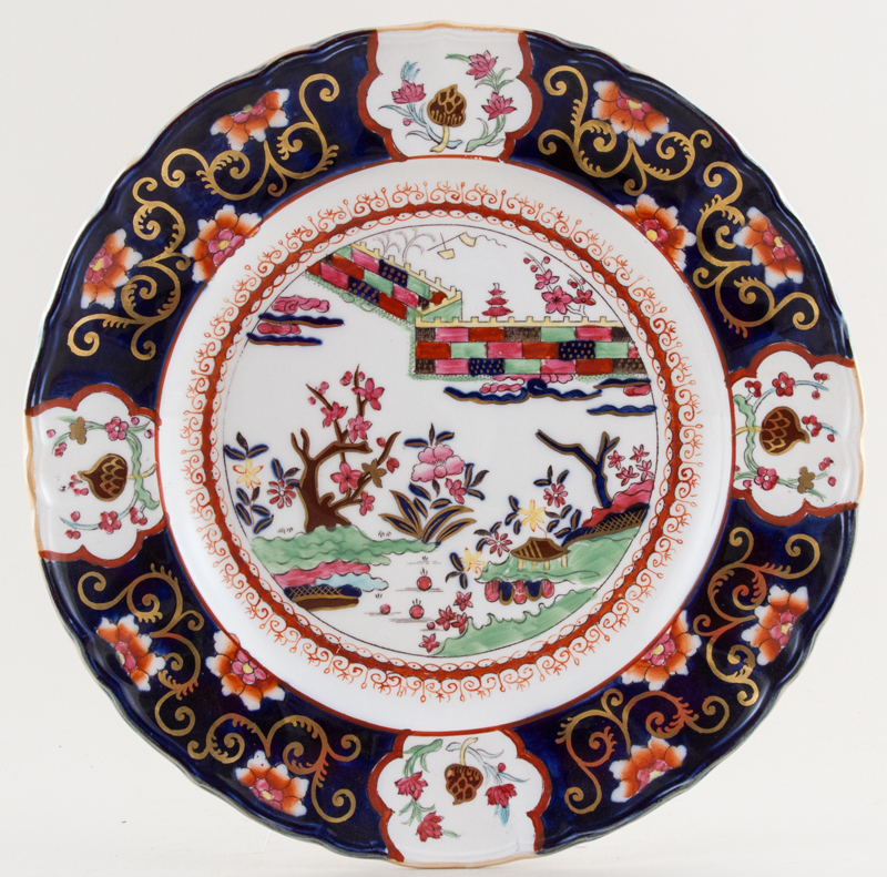 Masons Chinese Wall colour Plate c1930s