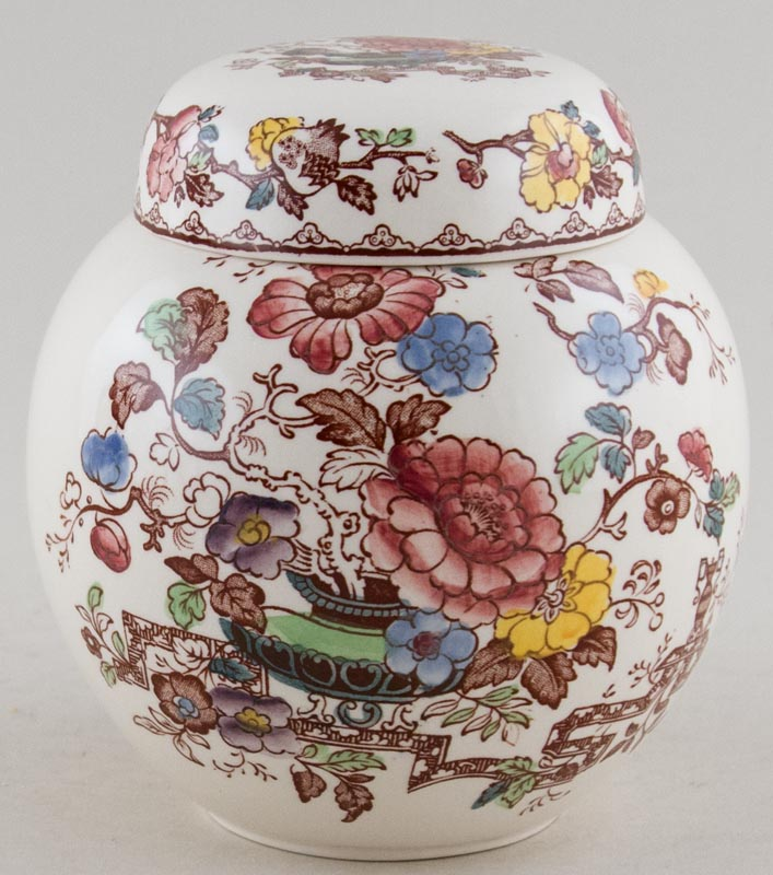 Masons Nabob brown with colour Ginger Jar c1950s