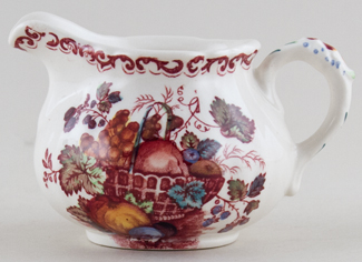 Masons Fruit Basket red with colour Creamer or Jug c1960s