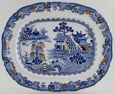 Masons Willow Meat Dish or Platter c1930s