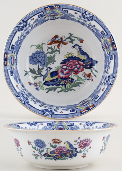 Masons Blue Pheasants colour Bowl c1920s