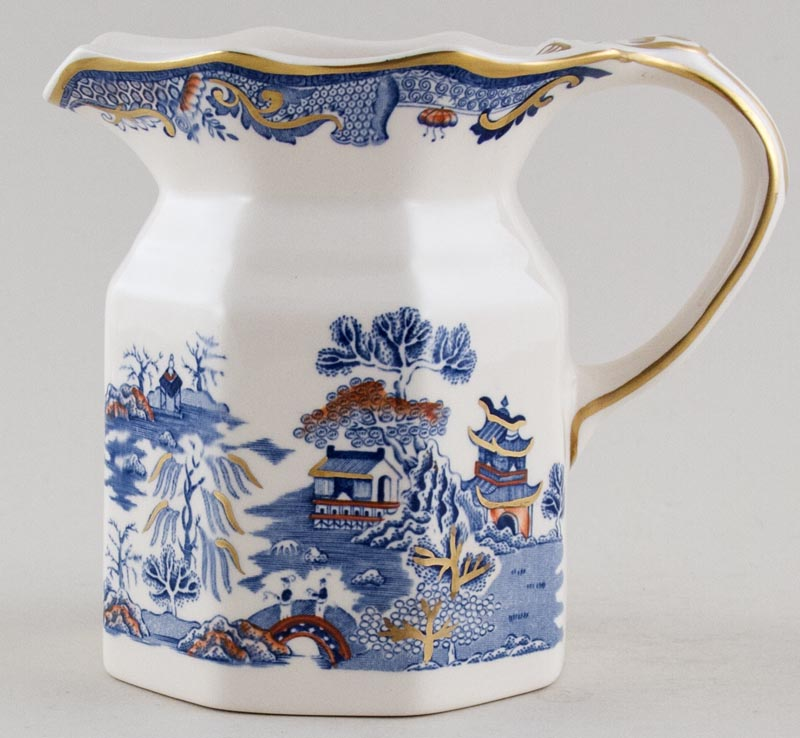 Masons Gold Willow blue with colour Jug or Pitcher c1980s