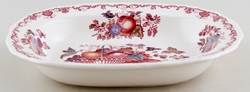 Masons Fruit Basket red with colour Dish c1950s
