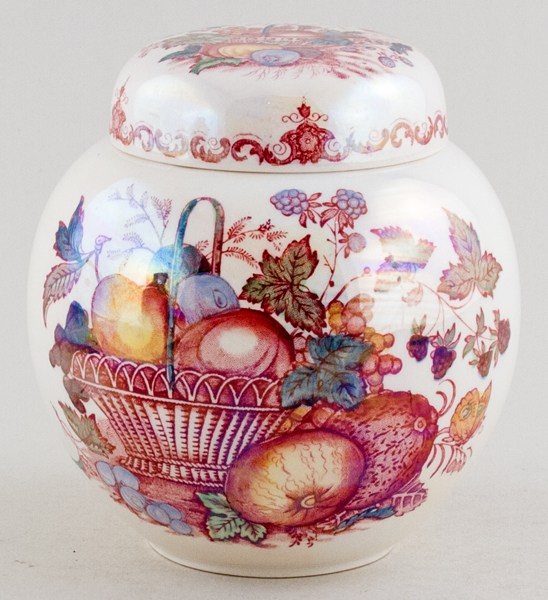 Masons Fruit Basket red with colour Ginger Jar