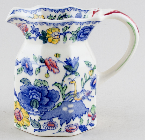 Masons Plantation Colonial colour Jug or Pitcher Fenton c1930s