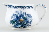 Masons Fruit Basket blue with colour Jug or Creamer