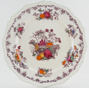 Masons Fruit Basket plum with colour Plate c1933