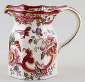 Masons Mandalay Red Jug or Pitcher c1980