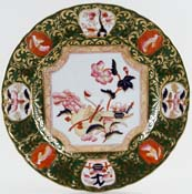 Masons Panel of Flowers green with colour Plate c1906