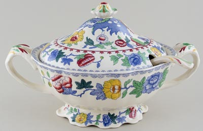 Masons Regency colour Soup Tureen and Ladle