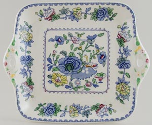 Masons Plantation Colonial colour Cake Plate