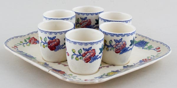 Masons Regency colour Egg Cups on Stand