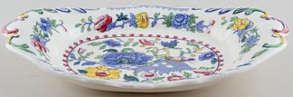 Masons Plantation Colonial colour Dish large ornate