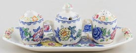 Masons Regency colour Condiment Set on Stand