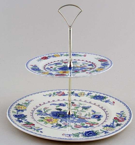 Masons Regency colour Cake Stand 2 tier