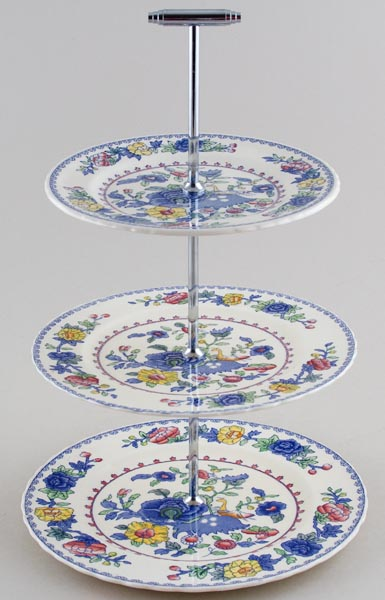 Masons Regency colour Cake Stand 3 tier