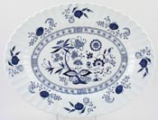 Meakin J and G Blue Nordic Platter c1960s