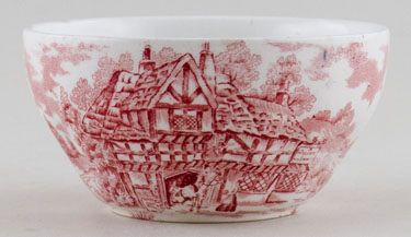 Meakin Alfred Coaching Days pink Sugar Bowl c1970s
