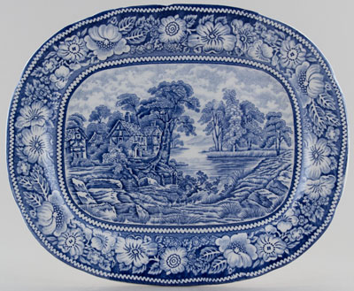 Midwinter Rural England Platter small c1950s