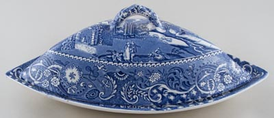 Midwinter Landscape Supper Set Dish c1950