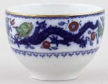 Minton Chinese Dragon and Bird blue with colour Sugar Bowl c1920