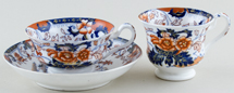 Minton Amherst Japan colour Trio c1835