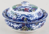 Minton Genevese blue with colour Soap Dish c1910