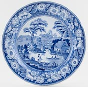 Unattributed Maker Wild Rose Plate c1880