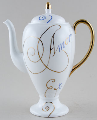 Repeat Repeat Amore white Coffee Pot c1990s