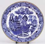 Unattributed Maker Two Temples Plate c1900