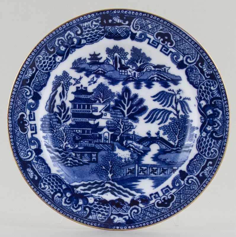 Unattributed Maker Two Temples Plate c1912