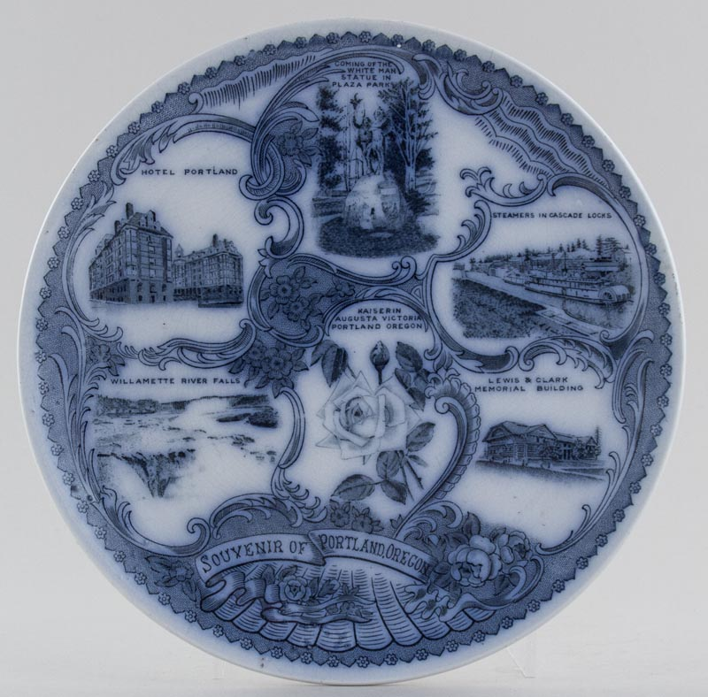 Unattributed Maker American Commemorative Plate Portland Oregon c1950