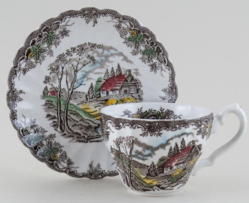 Myott The Brook colour Teacup and Saucer c1970s