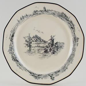 Royal Doulton Norfolk black Plate c1929