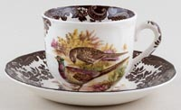 Palissy Game Series brown with colour Teacup and Saucer c1970